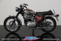 FOR SALE! 1970 BSA Lightning 650 Motorcycle! One of a kind on our showroom floor! This BSA Lightning motorcycle is fitted with its original, numbers matching 650cc vertical twin engine. Largely original, Low miles, with the odometer reading of only 9,376 miles! Hurry in to see this great bike while it lasts!