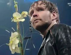Dean Ambrose with flowers Smackdown January 28 2016