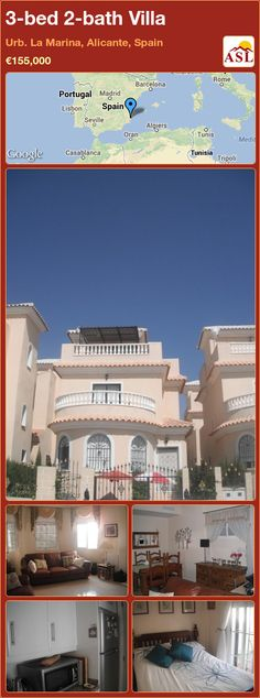 3-bed 2-bath Villa in Urb. La Marina, Alicante, Spain ►€155,000 #PropertyForSaleInSpain