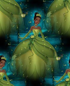 Disney's Princess and the Frog Tiana Tile Wallpaper