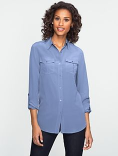 Talbots - Silk Utility Shirt | Blouses and Shirts | Misses