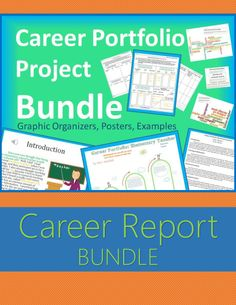 "Career Research Report Bundle. Aligned to Georgia's College and Career Readiness lessons and 5th Grade Career Portfolio Project. Includes career research graphic organizer, career cluster word splash posters, ""Keep Calm and Choose a Career"" poster, and published examples. Aligns perfectly with free career information available on https://www.gacollege411.org . #teachering"