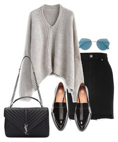 """Untitled #626"" by el-khawla ❤ liked on Polyvore featuring River Island, Chicwish, H&M, Yves Saint Laurent and Fendi"