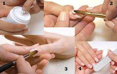 Cómo se aplica el acrílico en las uñas naturales, como se aplica el acrilico en las uñas naturales.   #uñasbonitas #nailsdesign #uñassencillas