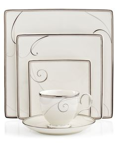 Noritake Dinnerware Platinum Wave Square 5 Piece Place Setting  sc 1 st  Pinterest & The 5 Most Popular Dinnerware Sets for Millennials | Dining sets ...