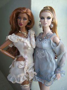 Jessica and me aka Pepper and Salt in Barbie form!!