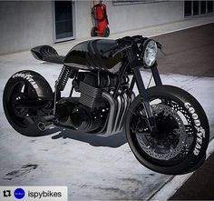 """Aaaaaaaaooooowwwwaaaaoooooo !!!! #Repost @ispybikes with @repostapp ・・・ """"BACK IN BLACK"""" - Honda CB750 Cafe Racer  #iSpyBikes. . Tag someone that would take this beauty home!. . ..."""