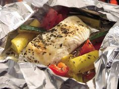 Halibut in packets