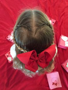 Adorable heart braid on my niece for Valentine's Day!