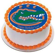 Florida Gators Edible Birthday Cake Topper Or Cupcake