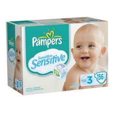 Pampers Swaddlers Sensitive Diapers Economy Pack Plus Size 3  156 Count (Packaging May Vary): http://www.amazon.com/Pampers-Swaddlers-Sensitive-Diapers-Packaging/dp/B004Q8EYR2/?tag=onlthebesshoa-20