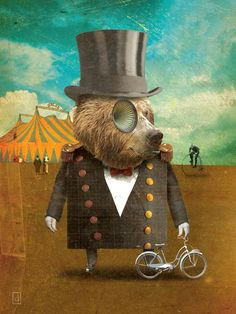 Wonderful digital collage!  circus circus by david vogin