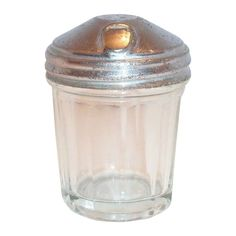 Child's Toy Glass Sugar Shaker with Metal Pour Top