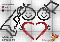 Groom and Bride - Wedding pattern Cross Stitch Heart, Modern Cross Stitch, Cross Stitching, Cross Stitch Embroidery, Wedding Cross Stitch Patterns, Crochet Wedding, C2c, Le Point, Needlepoint
