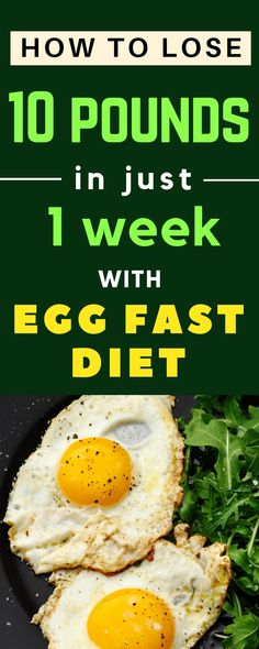 This Egg Fast diet for weight loss is easy to follow. You can lose about 10 pounds in a week. Here is all you want to know about it, with delicious egg fast recipes. #keto #eggfast #eggdiet