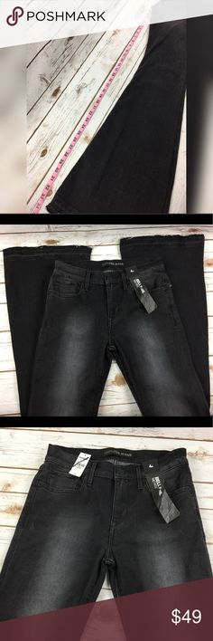 Express Black Bell Flare Mid Rise Jean Bell Bottom Brand new with tags. Black super big flare bell bottom jeans. Please see pics for measurements and more details (: Express Jeans Flare & Wide Leg