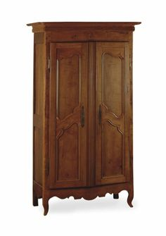 A FRENCH PROVINCIAL FRUITWOOD AND OAK ARMOIRE, 19TH CENTURY AND LATER
