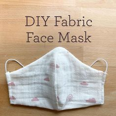 """DIY Fabric Face Mask DIY Fabric Face Mask,Nähen Related posts:How to sew a face mask from fabric - a video sewing tutorial - natureKartell Louis Ghost mit Bär-Aufdruck Kartell - natureculture:""""Pende"""" Homemade Face Masks, Diy Face Mask, A Mask, Diy Locker, Diy Vintage, Baby Shower Invitaciones, White Face Mask, Diy Couture, Mask Making"""