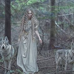 My fantasy image in magic forest with @thin.loth model& wolves in dress made by @agnieszkaosipa  #agnieszkalorek #fantasy #fairytale #fairy #elves #elf #wolf #wolves #longdress #longhair #slavic #blonde #forest #love #to #nature #animals #shoot #magic #beauty #instalove #inspiration #loveit #wildlife #costume #colours #canon #fineart