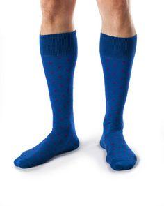 James- Combed Organic Cotton Dot Dress Socks by Zkano - $17.00  Made in USA