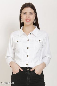 Jackets Fancy Women's Jackets Fabric: Cotton Sleeve Length: Long Sleeves Pattern: Solid Multipack: 1 Sizes:  S (Bust Size: 36 in Length Size: 28 in)  XL (Bust Size: 42 in Length Size: 28 in)  L (Bust Size: 40 in Length Size: 28 in)  M (Bust Size: 38 in Length Size: 28 in) Country of Origin: India Sizes Available: S, M, L, XL, XXL   Catalog Rating: ★4.2 (19254)  Catalog Name: Comfy Fabulous Women Jackets CatalogID_758744 C79-SC1023 Code: 472-5139123-876