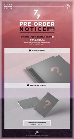GOT7 7 for 7 2Ver. SET K-POP CD + Booklet + Poster + PreOrder Gift Sealed #Pop