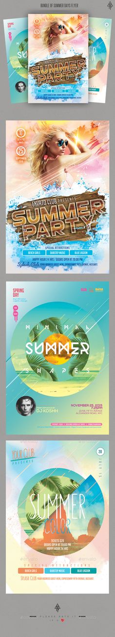 Summer Vibes Party Flyer  Party Flyer Flyer Template And Party