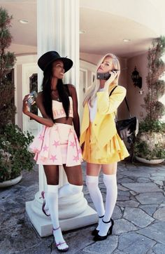 Clueless halloween costumes - So Perfect! Conrad We should do this! Clueless Halloween Costume, Group Halloween Costumes, Cher Costume, Cher Clueless Costume, Group Costumes, Halloween Costume For Blondes, 90s Party Costume, Cute Halloween Outfits, Original Halloween Costumes