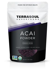 Terrasoul Superfoods Acai Berry Powder – Great food from a Great source. Terrasoul Superfoods is a company that I have come to like. The Acai Berry powder is just many of their wonderful products. Spirulina Powder, Superfood Powder, Lucuma Powder, Cacao Powder, Superfoods, Acai Berry Powder, Superfood Supplements, Organic Nutrients, Micro Nutrients