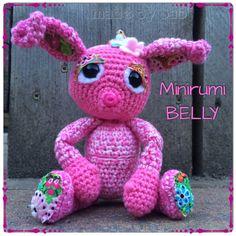 Minirumi Belly - naar het patroon van Esther Emaar van Crochessie  Crochet - pink - happy