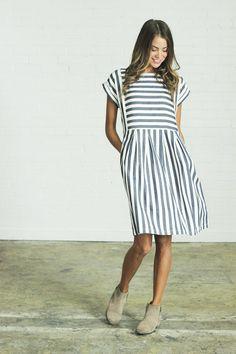 Striped Bib Dress