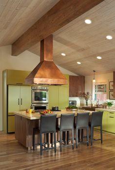 Blended modern/rustic kitchen remodel.