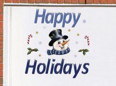 Happy Holidays Christmas Garage Magnets Decoration