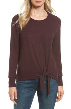 Free shipping and returns on Gibson Tie Front Cozy Fleece Pullover (Regular & Petite) at Nordstrom.com. A tie detail at the front hem gives a little trendy flounce to a relaxed sweater cut from a soft, heathered fleece-knit fabric.