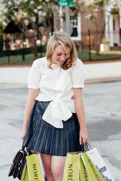 Pleat Faux Leather Miniskirt