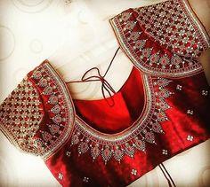 Cutwork Blouse Designs, Wedding Saree Blouse Designs, Saree Blouse Neck Designs, Simple Blouse Designs, Stylish Blouse Design, Wedding Sarees, Hand Work Blouse Design, Traditional Blouse Designs, Boutique