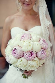 Wedding Bouquet ~ Peonies are so beautiful!