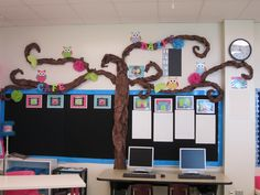 Owl Classroom Ideas | For a vertical version of this bulletin board, check out 3rd Grade's ...