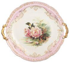 vintage floral cake plate - ABC Carpet & Home Antique Dishes, Vintage Dishes, Antique China, Vintage China, Vintage Tea, Vintage Floral, Antique Plates, Vintage Style, Cake Plates