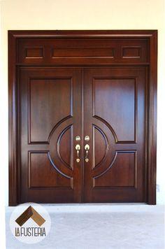 Puerta de Entrada fabricada en Madera #frontdoor #wood #home