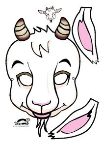 Printables For Kids Goat Mask The Year Of