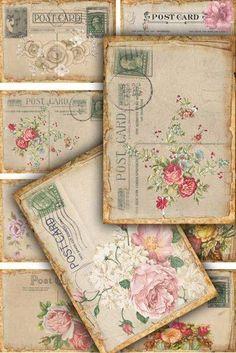 Lovely old postcards. Lovely old postcards. / Charming old cards. Vintage Ephemera, Vintage Cards, Vintage Paper, Images Vintage, Vintage Love, Shabby Vintage, Vintage Floral, Pocket Letter, Old Letters