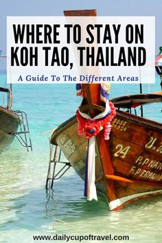 Our guide on where to stay on Koh Tao covers everything you need to know about the three different areas Mae Haad, Sairee Beach and Chalok Bay. Thailand Travel Tips, Visit Thailand, Asia Travel, Phuket Thailand, Beach Honeymoon Destinations, Travel Destinations, Chiang Mai, Travel With Kids, Family Travel