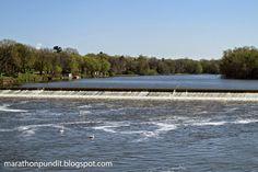 Dixon Dam, a low-head dam on the Rock River at Dixon, Illinois