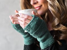 An accompaniment to our Startup Library: Knitting class, this pair of fingerless mitts is perfect for beginners.