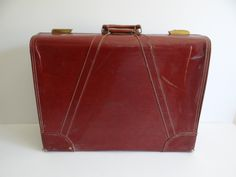 """Pak-M-Rite 24"""" Suitcase with Three Sections for Packing with an Envelope & Hanging Section Classic Vintage Accessory Mid Century Mad Men by SecondWindShop on Etsy"""
