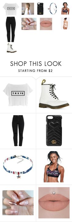 """Troye Sivan"" by cassieee-m ❤ liked on Polyvore featuring Dr. Martens, Gucci and Victoria's Secret"