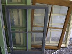 Recycled Window Picture Frame ~ Our Fairfield Home and Garden