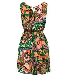 Vestido Estampado em Viscose - Lojas Renner