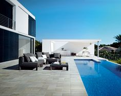 Panaria Bioarch Barge-Grigia  Outdoor tile , also for floor design , swiming pool area.